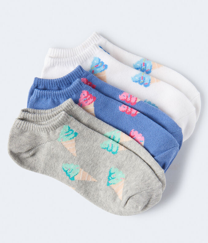 Ice Cream Cone Ankle Sock 3-Pack