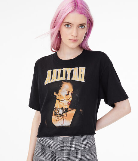 Aaliyah Cropped Graphic Tee***