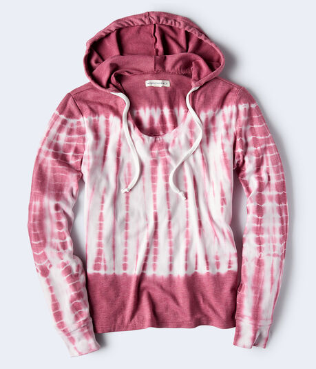 Long Sleeve Tie-Dye Hooded Shirt