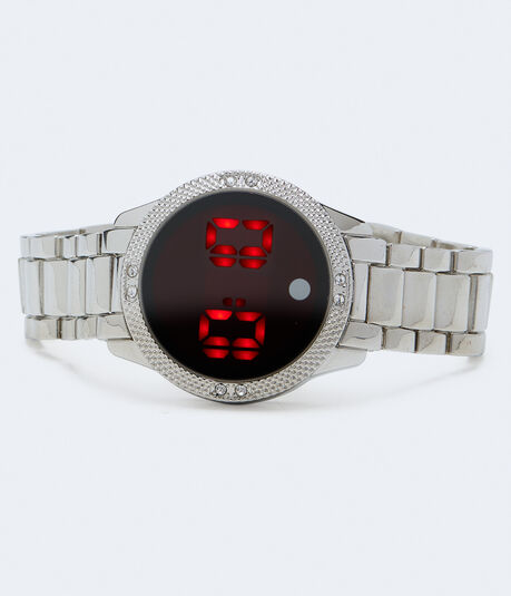 Textured Metal Digital Watch