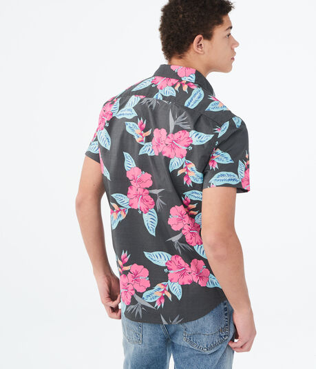 Hibiscus Floral Woven Shirt