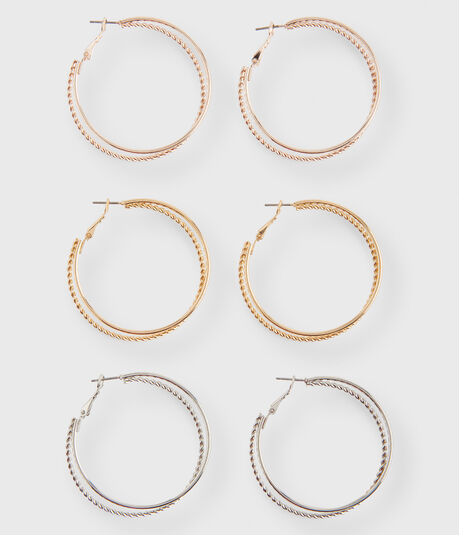 Metallic Hoop Earring 3-Pack