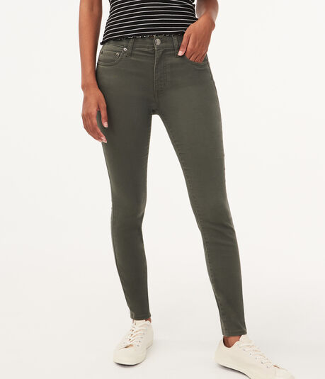 High-Rise Color Wash Jegging