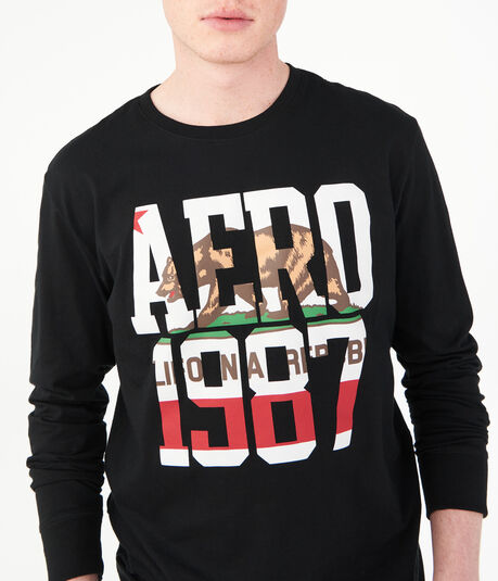 Long Sleeve Aero 1987 Bear Graphic Tee***