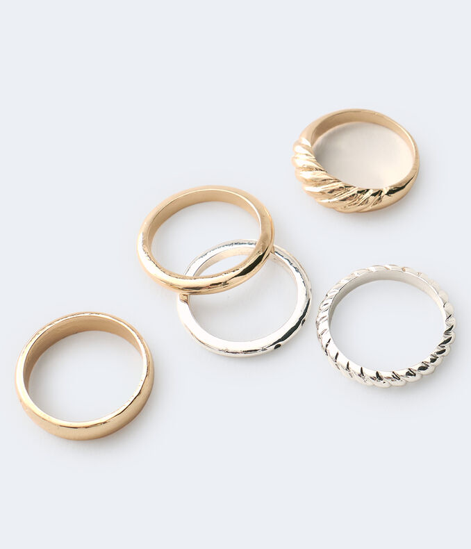 Mixed Metal Ring 5-Pack