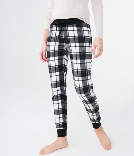 LLD Plaid Polyfleece Joggers
