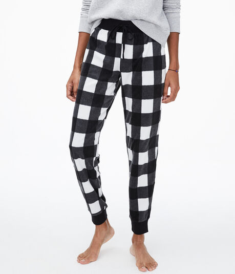 Plaid Polyfleece Joggers
