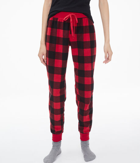 Buffalo Check Polyfleece Joggers