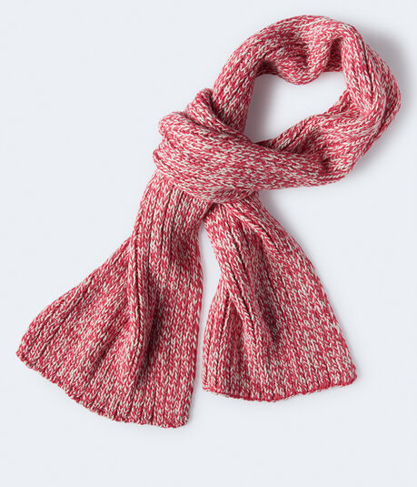 Ribbed Marled Knit Scarf***