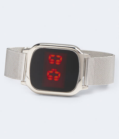 Mesh Rectangular Digital Watch