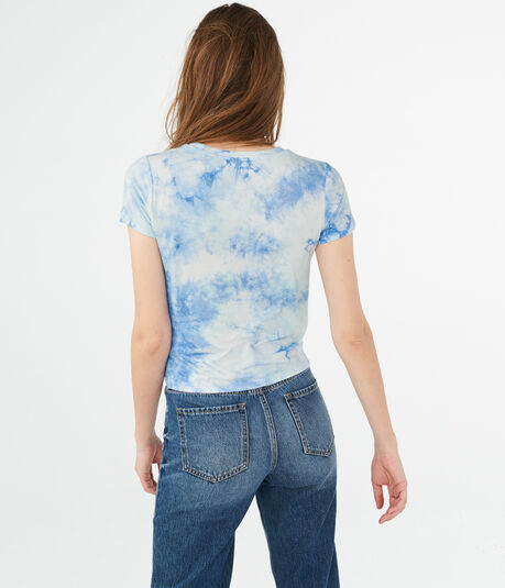 Always Chill Tie-Dye Graphic Girl Tee