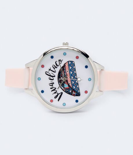 Rubber Viva El Taco Analog Watch