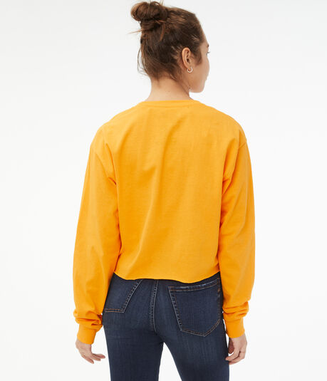 Long Sleeve David Bowie Cropped Graphic Tee