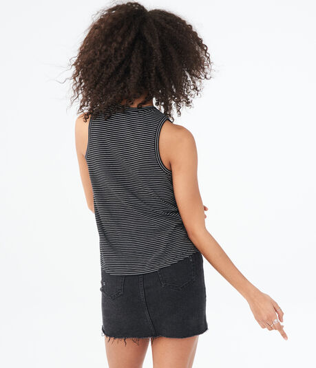Seriously Soft Striped Floral Tank