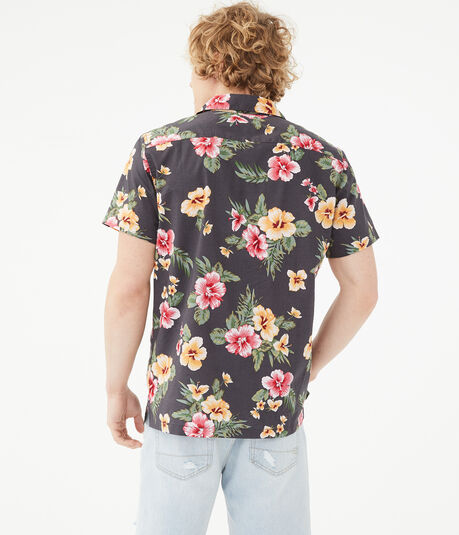 Island Floral Button-Down Resort Shirt