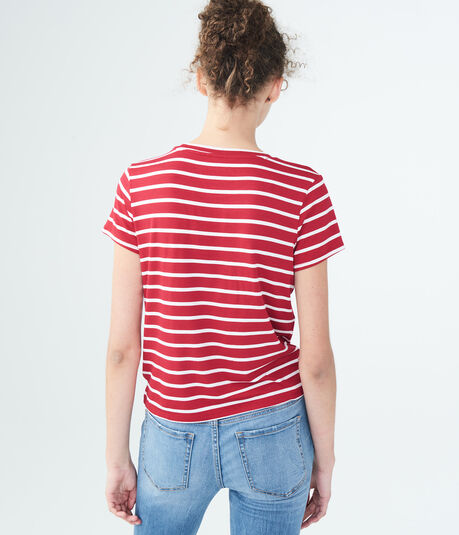 Seriously Soft Striped Heart Girl Tee