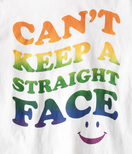Can't Keep A Straight Face Graphic Tee