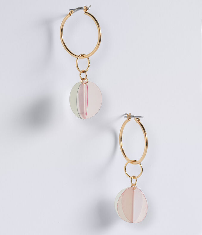 Folded Circle Hoop Earrings