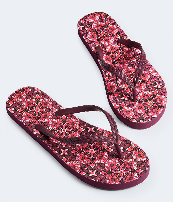 LLD Moroccan Tile Braided Flip-Flop