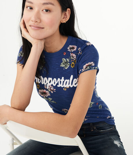 Floral Aeropostale Graphic Tee