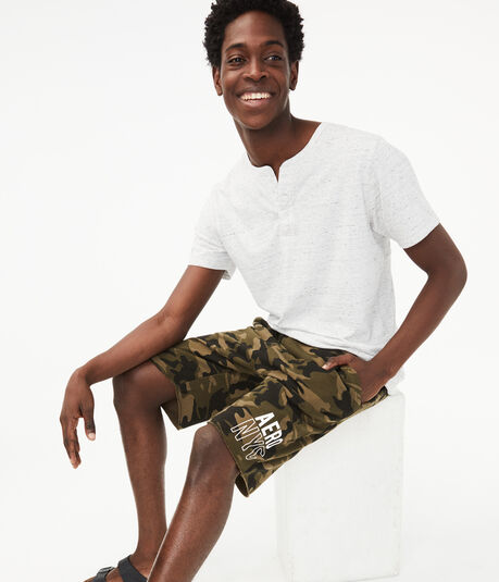 "Aero NYC Camo 9"" Fleece Shorts"