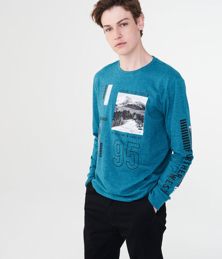 Long Sleeve Split Wilderness Graphic Tee