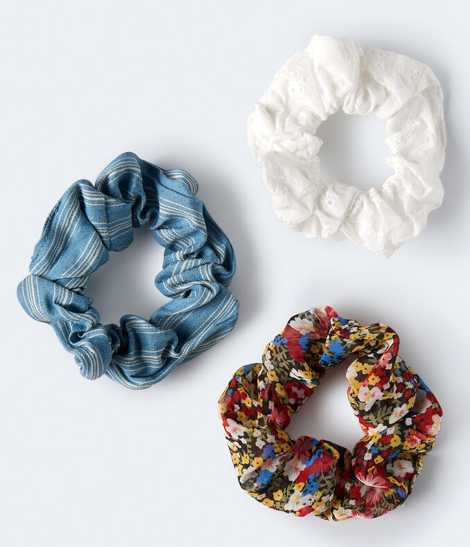 Eyelet Scrunchie 3-Pack