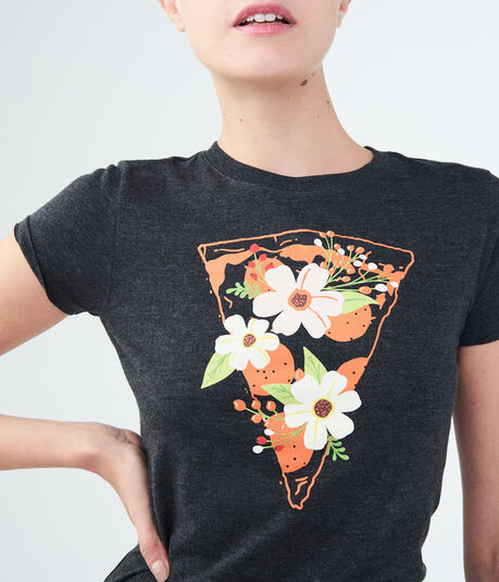 Free State Floral Pizza Graphic Tee