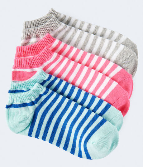 3-Pack Striped Ankle Socks***