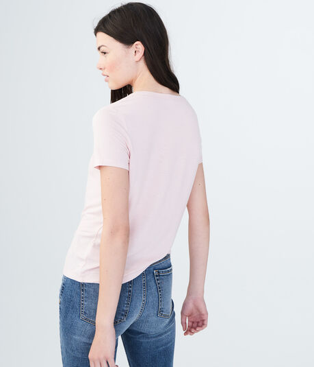 Solid Lace-Up Tee