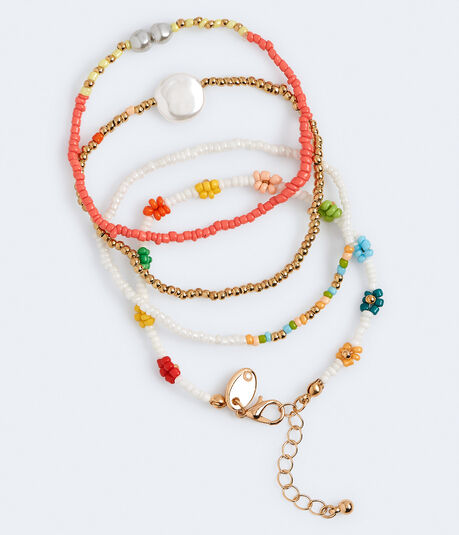 Best Friends Multicolor Seed Bead Bracelet 4-Pack