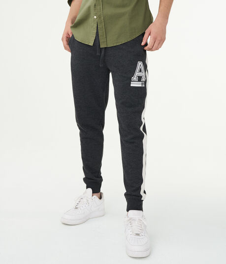 """A"" NY Striped Jogger Sweatpants"