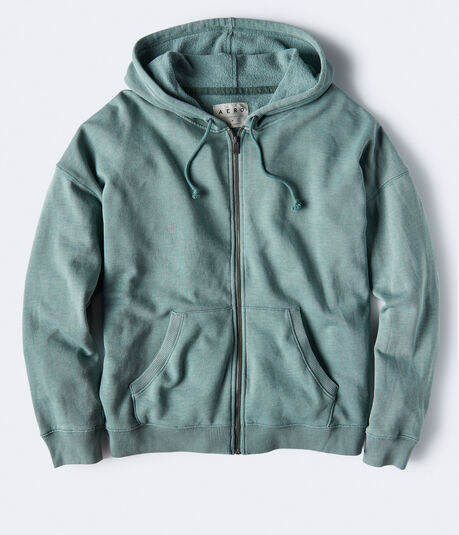 Sundry Wash Oversized Full-Zip Hoodie