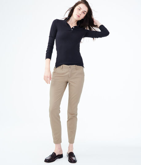 Skinny Twill Pants