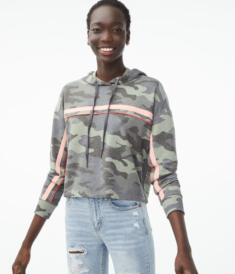 Camo Stripe Pullover Hoodie
