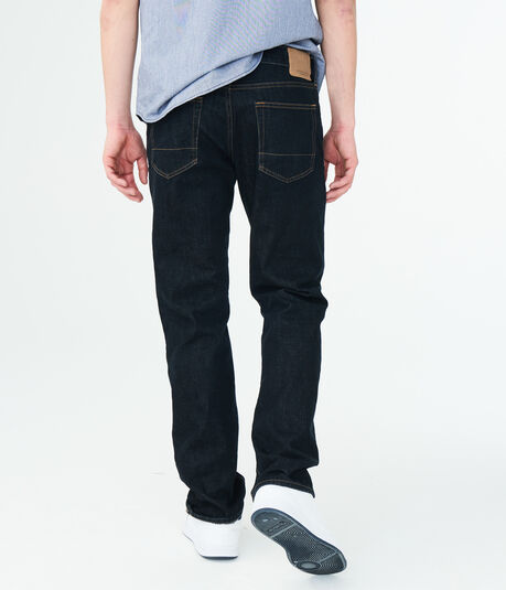 Straight Dark Rinse Wash Stretch Jean