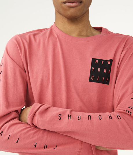 Long Sleeve Five Boroughs Graphic Tee