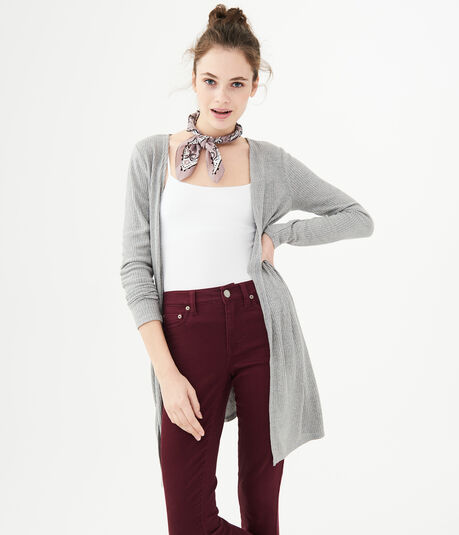 Open Ribbed Cardigan