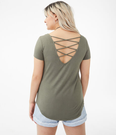 Seriously Soft Strappy-Back Scoop Tee***