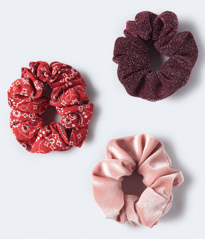 Sparkle Velvet Scrunchie 3-Pack