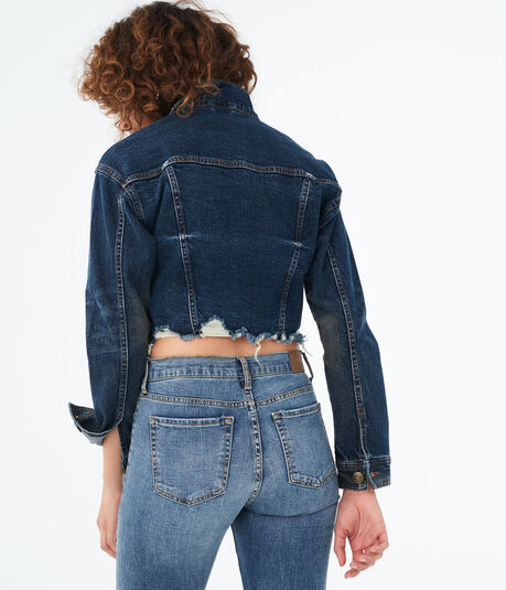 Seriously Stretchy Cropped Denim Jacket