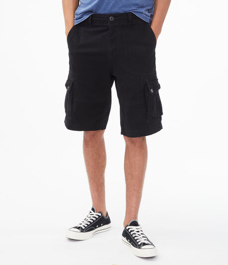 Longer-Length Stretch Twill Cargo Shorts***