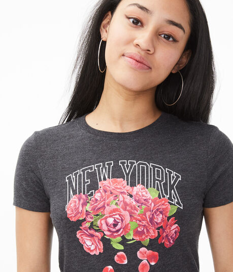 New York Roses Graphic Tee