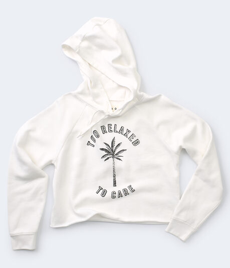 Too Relaxed To Care Cropped Pullover Hoodie
