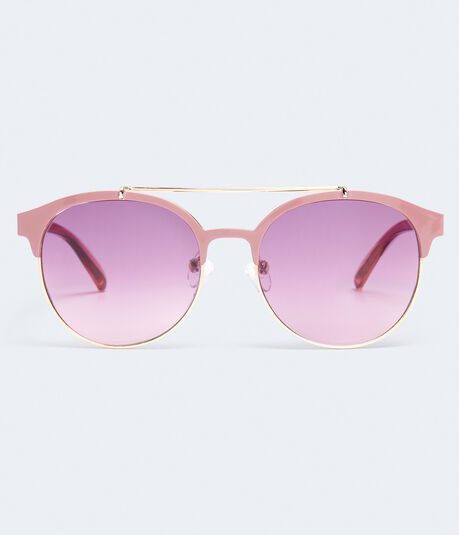 Round Top-Bar Sunglasses***