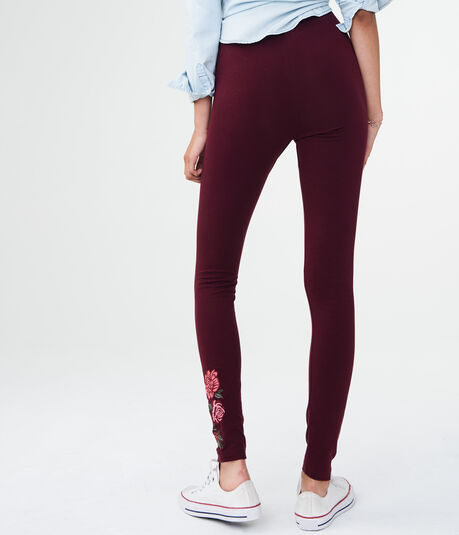 High-Waisted Embroidered Leggings