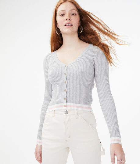 Ribbed Bodycon Cardigan