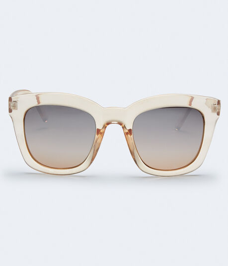 Chunky Square Mirrored Sunglasses