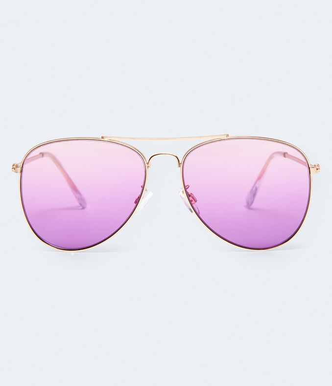 Colored Lens Aviator Sunglasses