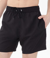 Deals on Aeropostale Mens Solid Swim Shorts